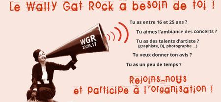 Le Wally Gat Rock 2017 a besoin de toi !