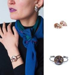 Diamond Drops Earrings and Manchette Bracelet Layout
